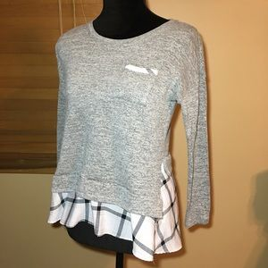 Style & Co. Grey & White Sweater Top